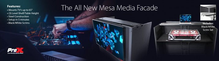 THE ALL NEW MESA MEDIA FACADE DJ TABLE WORKSTATION .