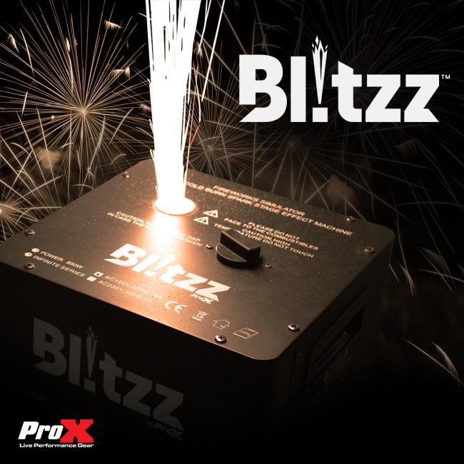 Blitzz FX Set of Two Smaller Model Cold Spark Machines W-Flight Case