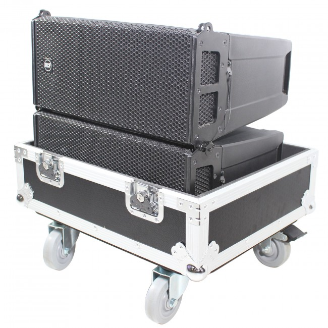 Line Array Flight Case for 2 RCF HDL6-A Speakers W/Wheels   ProX