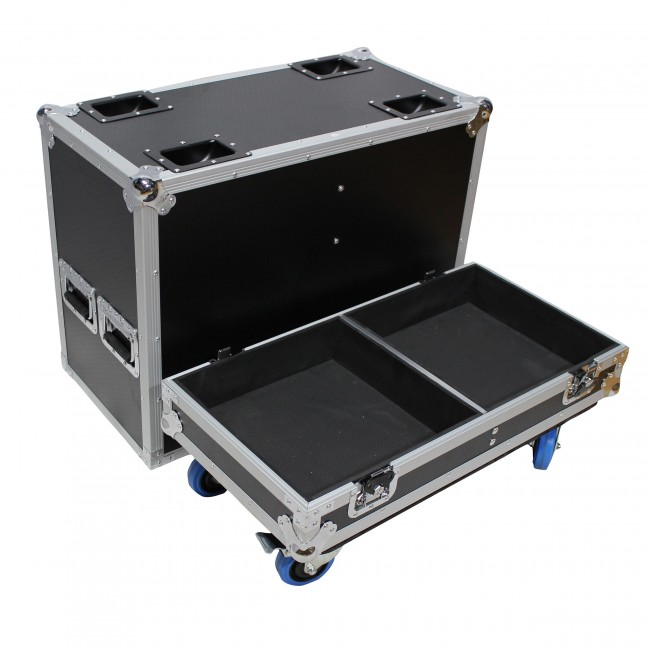 Fits 2x RCF SUB 8005-AS Subwoofer Flight Case with 4 inch Wheels