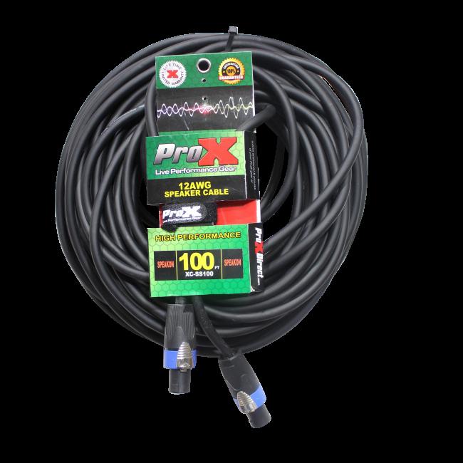 SpeakON to SpeakON 12AWG High Performance Speaker Cable 100FT | ProX ...