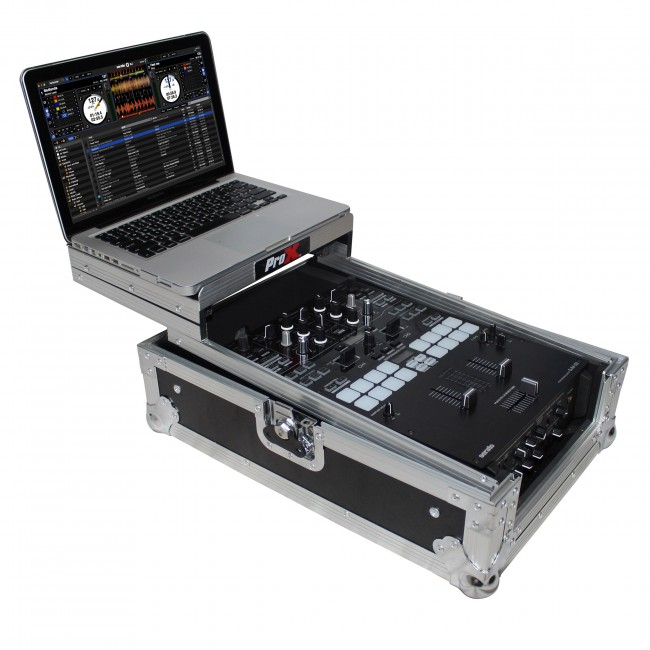 prox fits pioneer djm s9 mixer flight case with sliding laptop shelf prox live performance gear. Black Bedroom Furniture Sets. Home Design Ideas