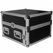 4U Rack x 10U Top Mixer DJ Combo Flight Case w Laptop Shelf