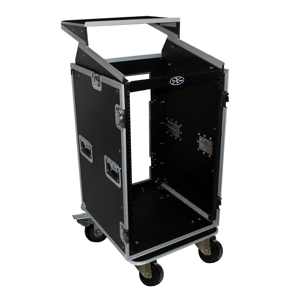 Front Load Mixer ~ U rack top mixer dj combo flight case w laptop