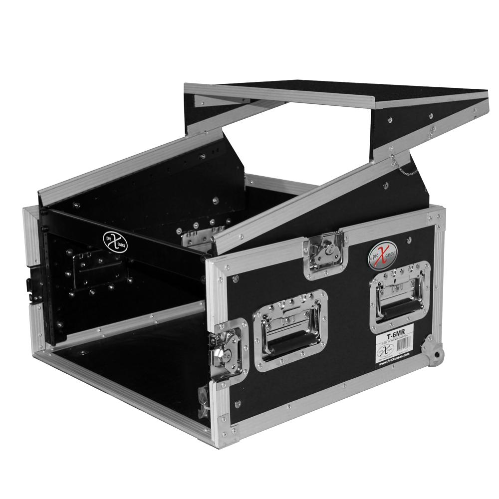 6u Rack X 10u Top Mixer Dj Combo Flight Case W Laptop