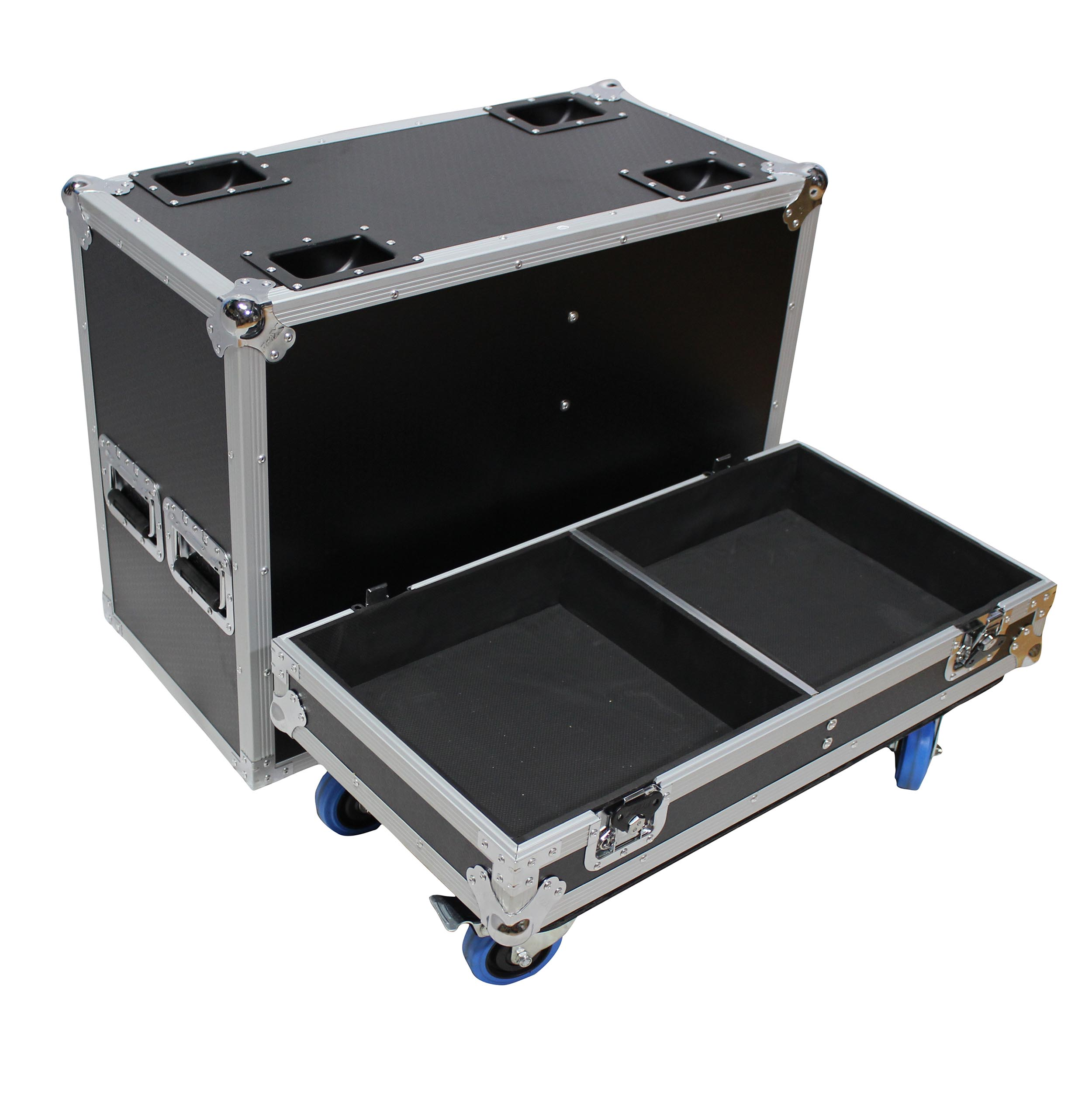 Fits 2x RCF HDL 18-AS Flyable Subwoofer Flight Case with 4