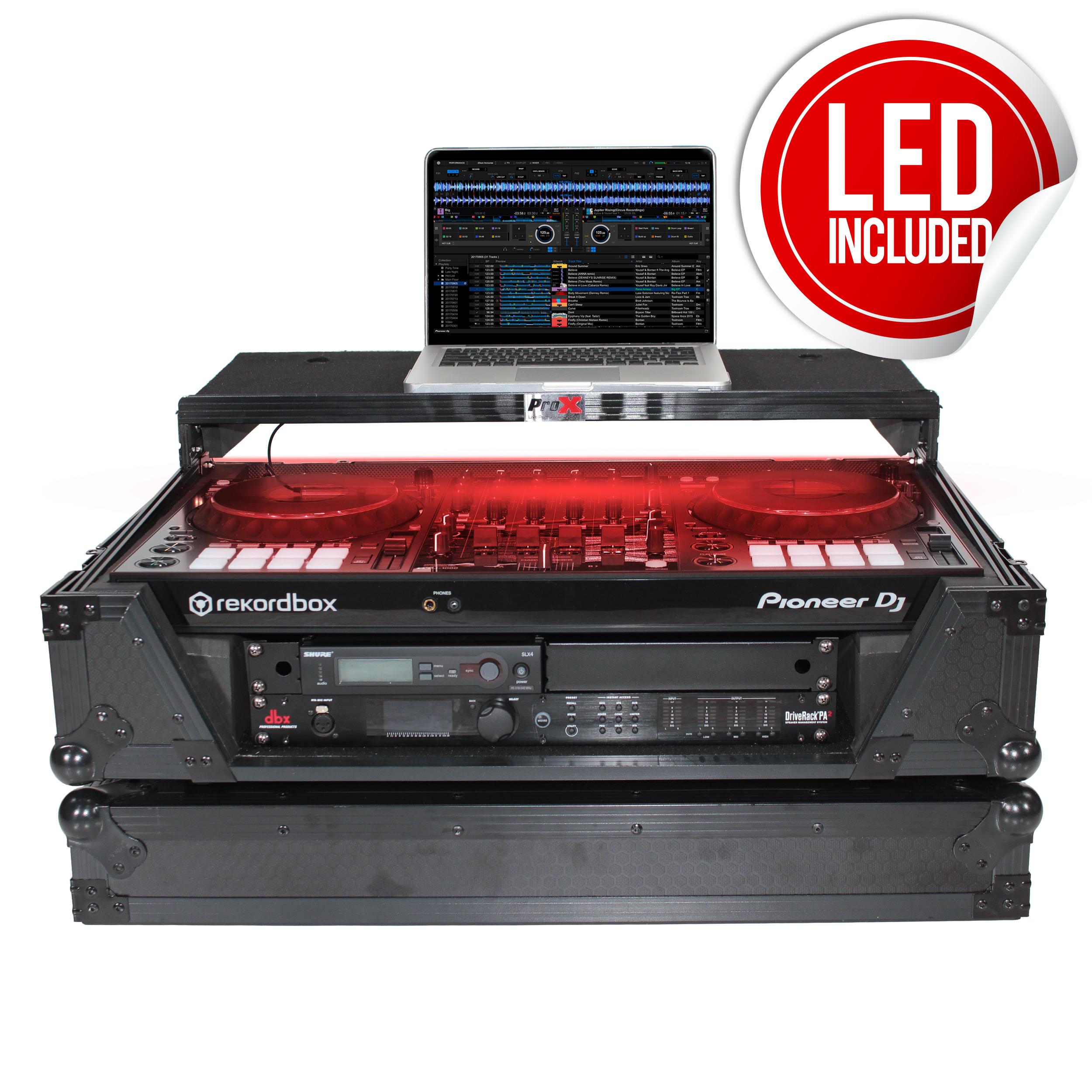 ProX XS-DDJ1000WLT Flight Case+Wheels+Sliding Laptop Shelf For Pioneer DDJ-1000