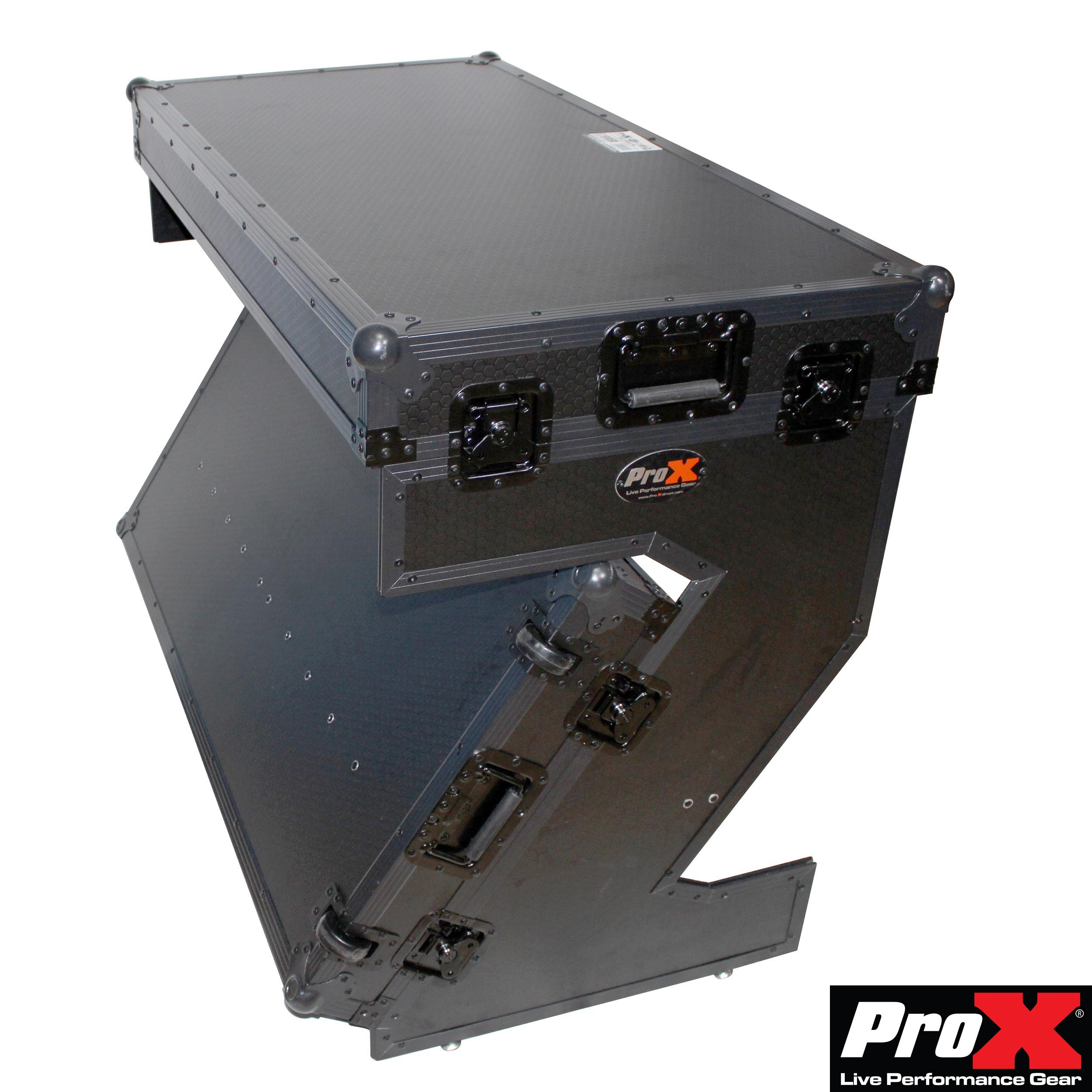 ProX Portable Z Style Dj Table Flight Case with handles & wheels